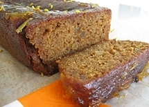 Spiced treacle gingerbread with a marmalade glaze